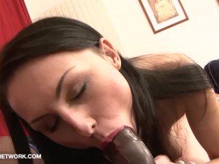 Cum Licking Milf Casting For Interracial Porn gets fucked POV she swallows