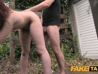 Fake Taxi Natural tits redhead sucks dick