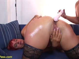 chubby Milf gets anal pumped