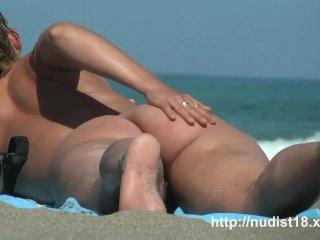 Nude beach voyeur shoots