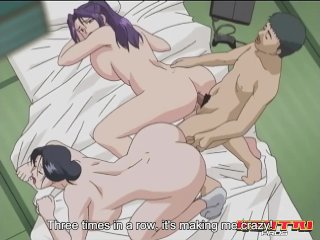Hentai Pros – Dirty wife cheats with two hard cocks