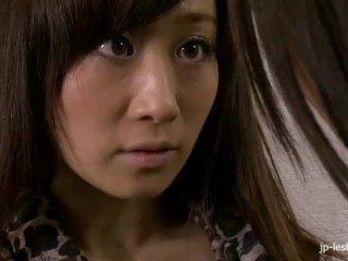 Hairy Japanese MILF lesbians