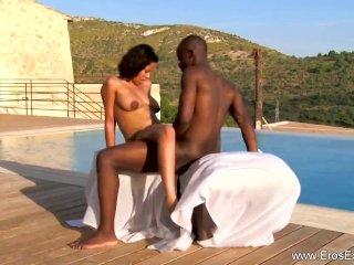 Ebony Couple Learning To Make Love