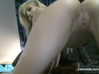 Carmen Caliente sexy Latina babe masturbating and playing with wet pussy.