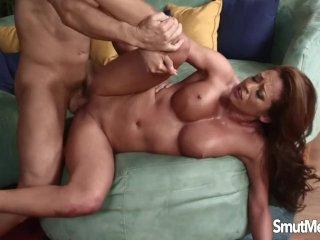 Trashy Slut Sucks Cock and Gets Drilled