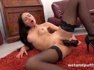 Russian sensation takes it in both holes