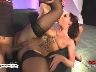 Tattooed MILF Angie the French Anal lover