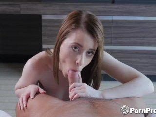 PORNPROS Tiny pale brunette Alice Merchesi fits big dick in her wet pussy