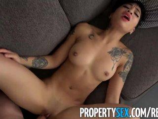 PropertySex – Hot tenant cheats on DJ boyfriend with her landlord