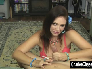 Smoking Hot MILF Charlee Chase Jerks a Hard Cock!