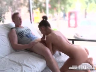 Hot Teen Bella Aviva has Hardcore Sex in Public