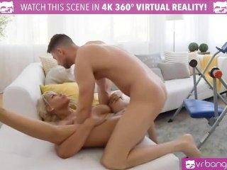 VR PORN-BRIDGETTE B SEXY MOM HAVING SEX WITH THE POOL BOY