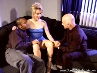 Threesome For Horny MILF Swinger