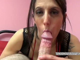 Lavender Rayne does some raunchy cock sucking