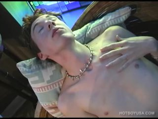 Skinny and Hung Twink Danny James Jacking Off