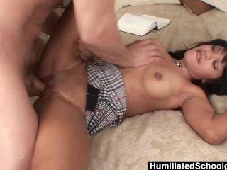 HumiliatedSchoolGirls – Rhianna makes him cum so good