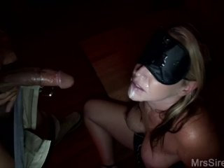 Big Titty Wife Blindfolded Blowbang