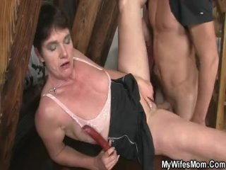 Wife finds him and mother in law fucking