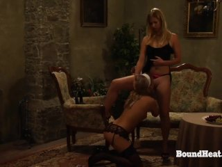 The Submission of Sophie: Bound Sophie Uses Her Oral Skills