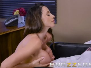 Busty Brunette CEO Wants To Suck A Big Cock – Brazzers