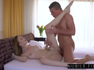 Step Brother Blindfolded & Fucked By Busty Petite Sis