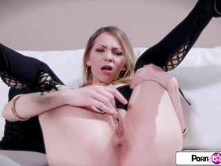 Pornstar Tease – Watch Angel Smalls teases from head to toe