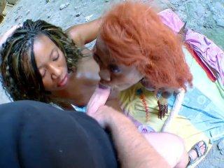Ebony Girls Crave Big White Cock