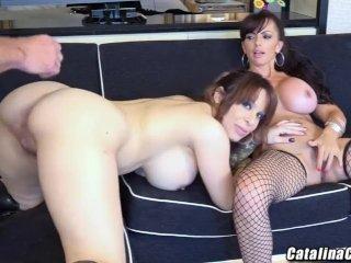 Busty threesome with Alyssa Lynn and Catalina Cruz live cam