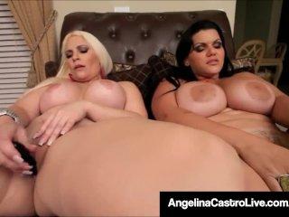 Cuban BBW Angelina Castro & Bedelli Buttland Bang Wet Cunts!
