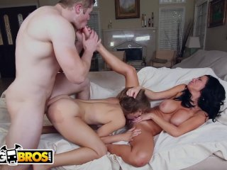 BANGBROS – MILF Catches Step Daughter With Boyfriend and Fucks Them!