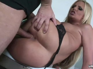 Gorgeous blonde nurse revives hung patient with her sexual skills