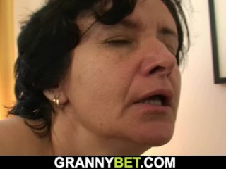 He brings old granny home for sex-play