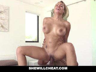 SheWillCheat – Blonde Latina Cuban Wife Loves Fat Black Cock