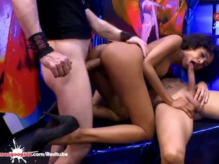 Sexy ebony Latina Luna Corazon moans in pleasure – Extreme Bukkake