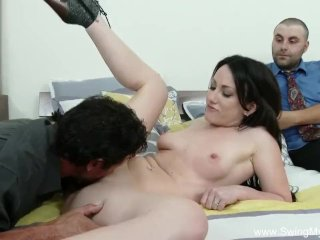 Natural Brunette Wife Swings Hard