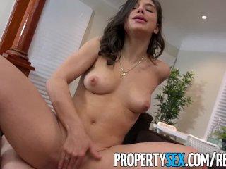 PropertySex – College student fucks hot ass real estate agent