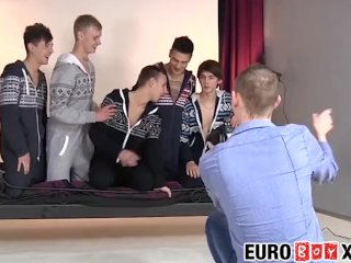Euro twinks orgy fucking and sucking