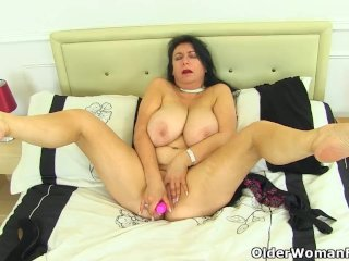 British milf Sabrina exposes her best assets