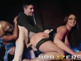 Brazzers – Busty strippers share lucky fan