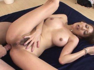 Akari Asagiri amazing milf sex with two makes  – More at 69avs com