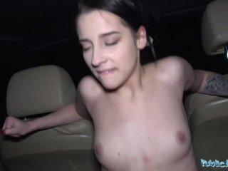 Public Agent Hot Czech car fuck after public blowjob makes agents cock hard