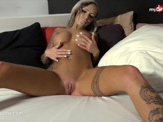 My Dirty Hobby – Busty babe sucks a fat cock