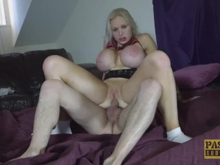 UK subslut rammed hard in ass and cunt