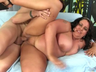 Mature Fattie Is Fucked in Her Mouth, Cunt and Ass