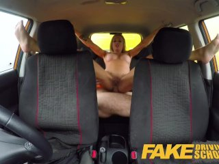 Fake Driving School Big tits learner ends lesson with hot tight anal sex