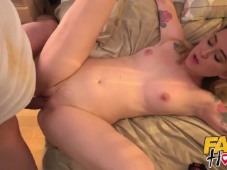Fake Hostel Super horny sexy blonde Polish backpacker explores a thick cock