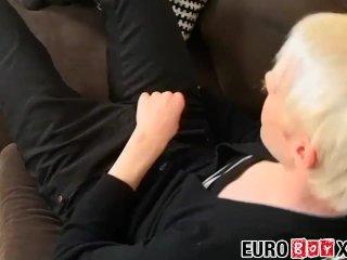 Young Euro emo solo masturbating hard