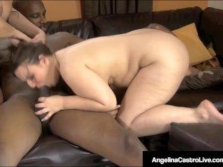 BBWs Angelina Castro & Lexxxi Lockhart Pounded By Black Cock