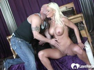 Cute blonde enjoys a hardcore pussy pounding