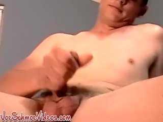 Young guys cock cums with hand stroke and blow from Joe